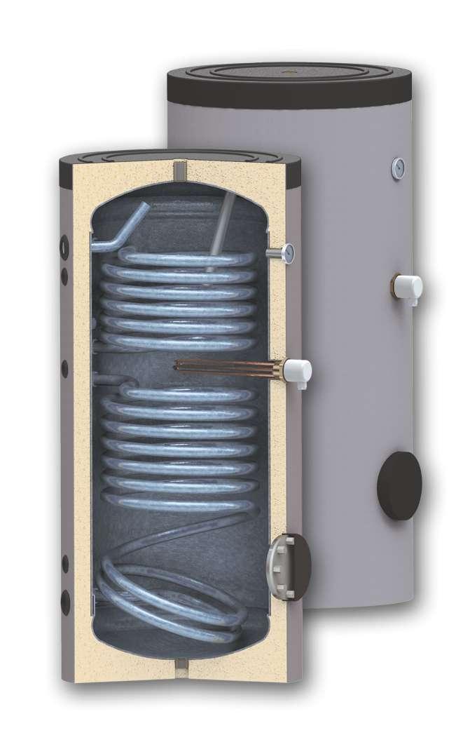 Boiler de apa calda cu acumulare SUNSYSTEM SON cu doua serpentine