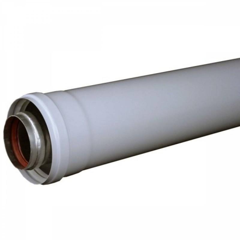 Prelungire pentru centralele termice cu tiraj fortat (conventionale) DN=60/100 mm; 0,5 m