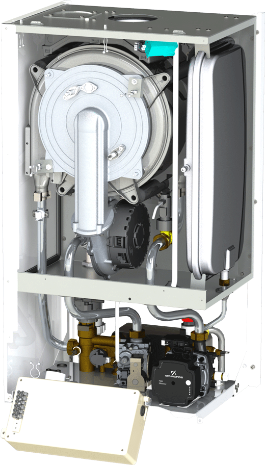 Centrala termica Motan MKDens35 - vedere interioara
