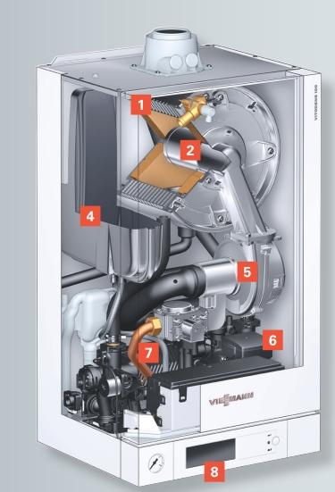 Centrala termica pe gaz in condensatie Vitodens 100-W