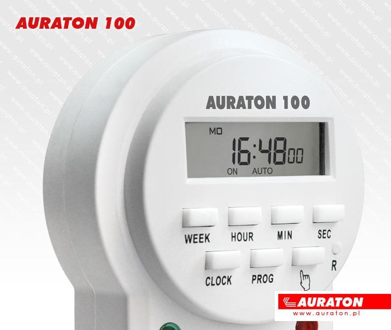 Priza programabila AURATON 100 - detaliu afisaj si butoane