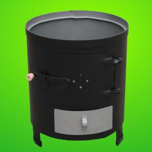 Soba pentru boiler (focar nesamotat) culoare neagra