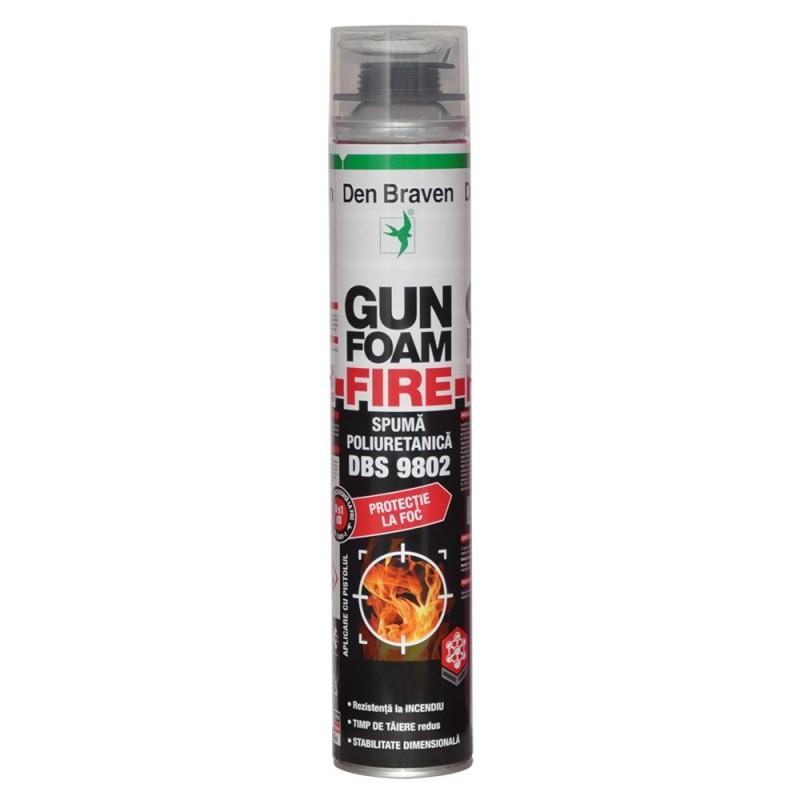 Spumă poliuretanică ignifugă Den Braven Gun Foam Fire DBS 9802 700 ml