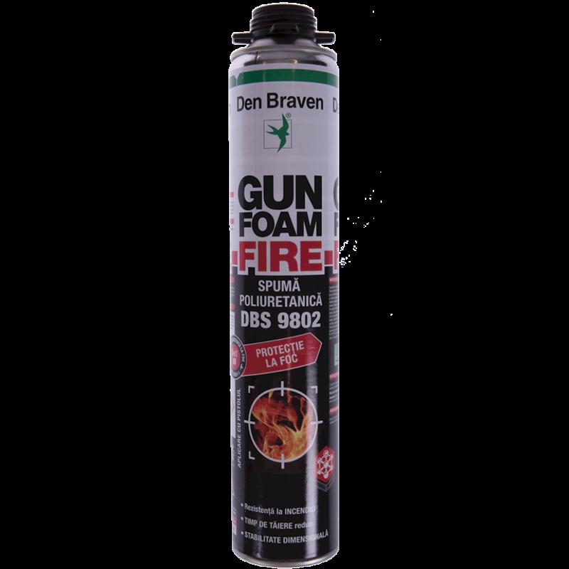 Spumă poliuretanică ignifugă Den Braven Gun Foam Fire DBS 9802 700 ml - fara capac