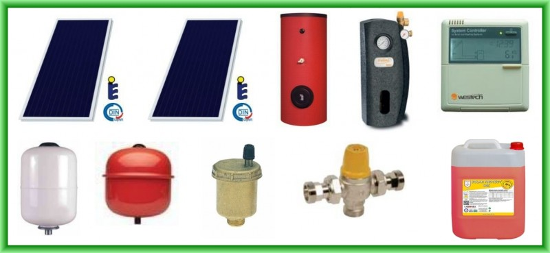 Pachet solar SUNSYSTEM cu doua panouri plane PK SL/CL 2,7 mp + boiler SON V S2/300 300 litri