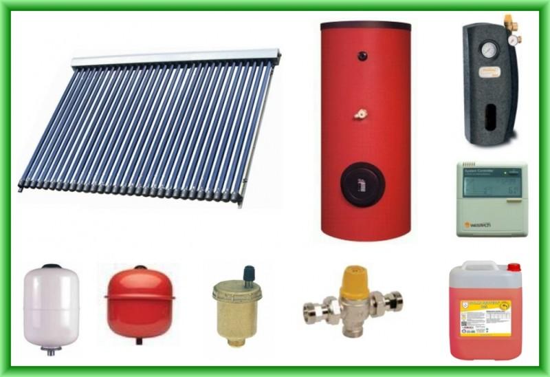 Pachet panou solar cu 30 de tuburi vidate SONTEC SPA-S58/1800A-30 si boiler SON V S2/200 200 litri