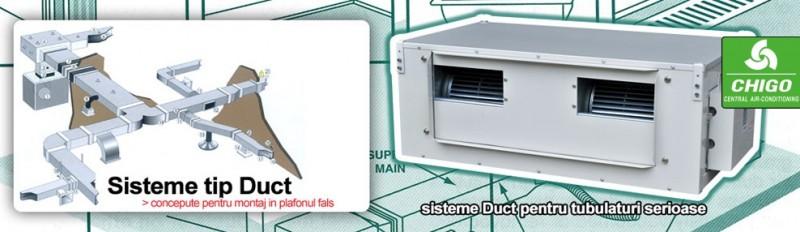 Echipament de climatizare comerciala CHIGO DUCT - exemplu de montaj