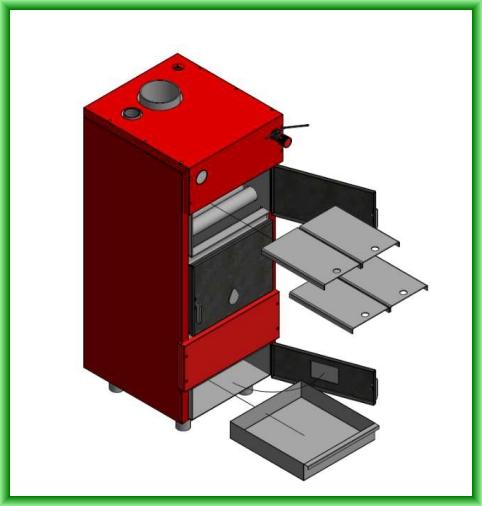 Centrala termica pe lemn ECO 27 - elemente componente furnitura