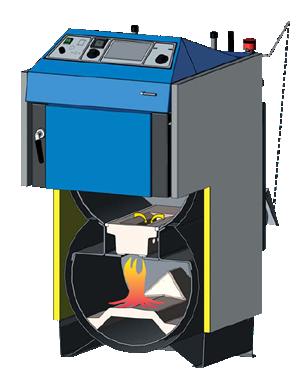 Centrala termica pe lemn cu gazeificare ATMOS DC22SX - schema functionala