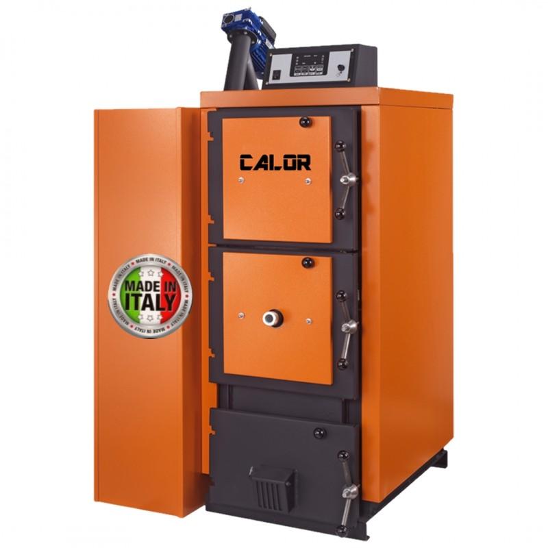 Centrala termica mixta pe lemn si peleti CalorCaldaie MX Automatica