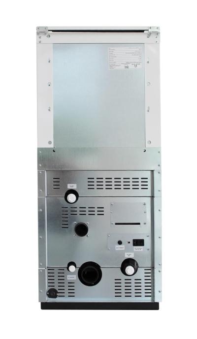 Centrala termica pe peleti ROSSI CAMINO COMPACT 25 kW - vedere din spate