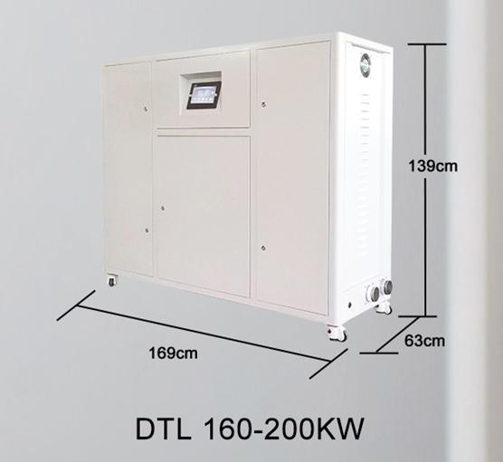 Centrala termica electrica cu inductie OFS-DTL 200 kW - dimensiuni de gabarit