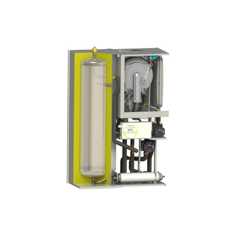 Centrala termica Motan MKDens 35 BA Plus cu boiler inox 40 litri - vedere interioara