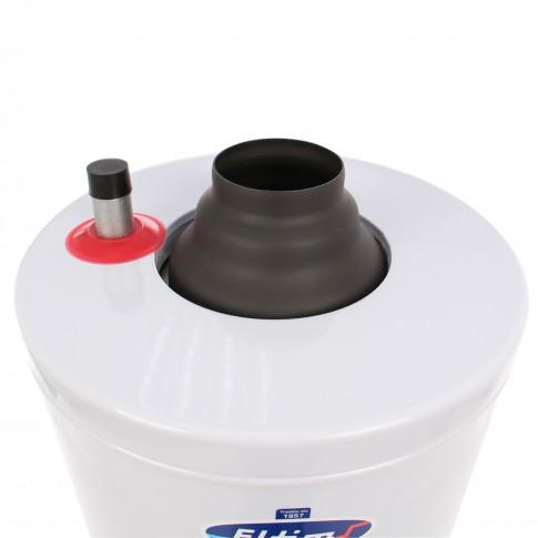 Boiler zincat si izolat ELTIM 90 litri - detaliu racord apa calda si la cos