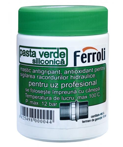 PASTA VERDE SILICONICA pentru etansare filete - 460 grame
