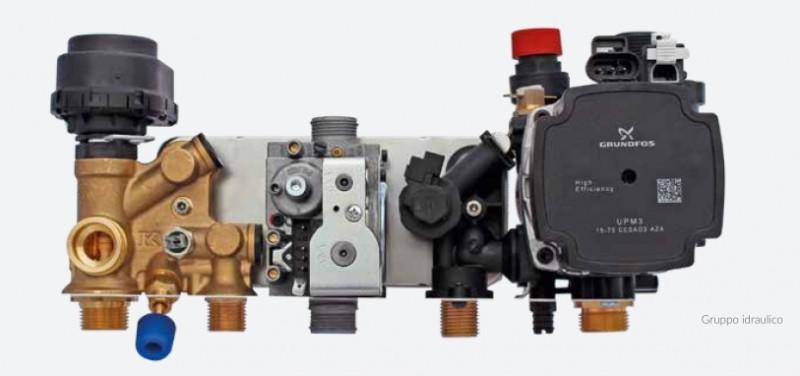 Centrala termica pe gaz in condensatie combi ARCA PIXEL MX PN - grup hidraulic