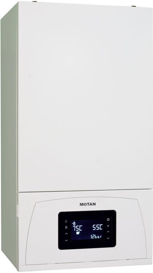 Centrala termica pe gaz in condensatie MOTAN CONDENS 100 25 kW - vedere stanga