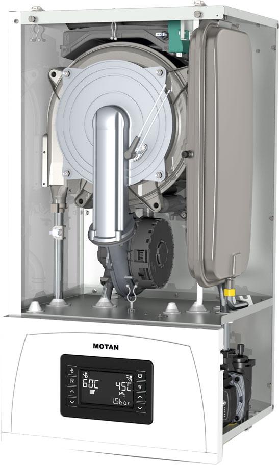 Centrala termica pe gaz in condensatie MOTAN CONDENS 100 25 kW - vedere fara capac