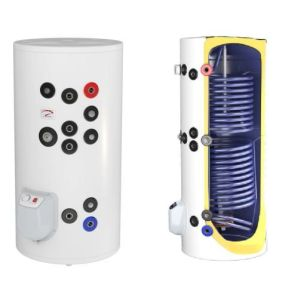 poza 2650 Lei Boiler termoelectric emailat cu doua serpentine Eldom Green Line - 300 litri