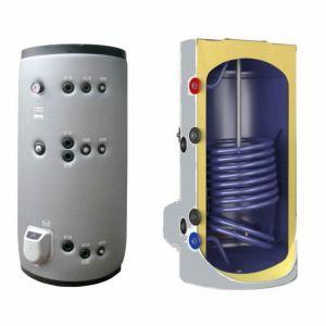 poza 4550 Lei Boiler termoelectric emailat cu doua serpentine Eldom Green Line - 750 litri