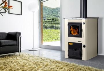 Poza Soba de gatit pe lemn cu incalzire centrala Concept 2 Mini - bej
