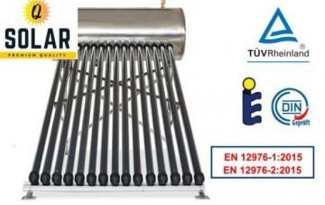 poza Panou solar Q Solar Premium presurizat boiler INOX 100 litri 10 tuburi vidate