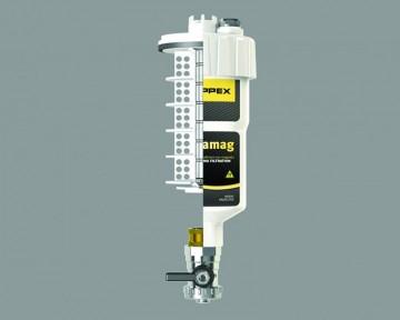 Poza Filtru dual pentru impuritati magnetice si nemagnetice CENTRAMAG 1 DN 22 mm - vedere in sectiune