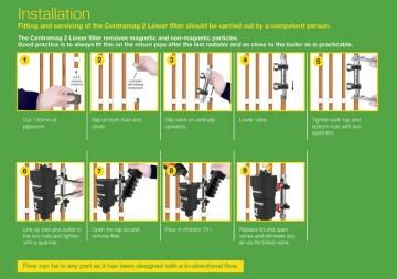 Poza Filtru dual pentru impuritati magnetice si nemagnetice CENTRAMAG 2 INLINE DN 22 mm - intructiuni de instalare