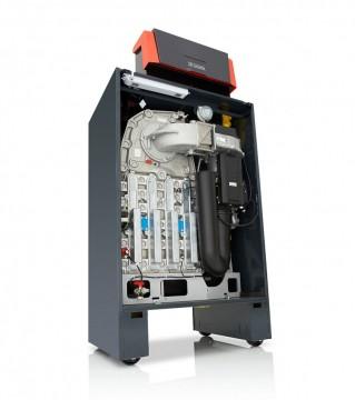 Poza Centrala termica in condensatie pentru gaz metan REMEHA G220 ACE - vedere din fata stanga fara capac