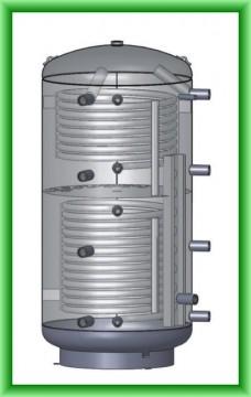Poza Puffer cu doua serpentine cu stratificare Austria-Email PZRR - desen tehnic