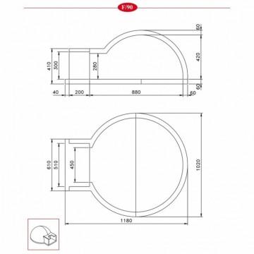 Poza Cuptor pe lemne pentru paine prefabricat CLAM F90 - desen tehnic