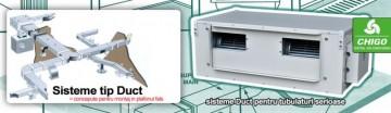 Poza Echipament de climatizare comerciala CHIGO DUCT - exemplu de montaj