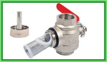 Poza Robinet cu filtru de impuritati si magnet permanent REGULUS DN 20 mm - vedere cu magnet si sita demontata