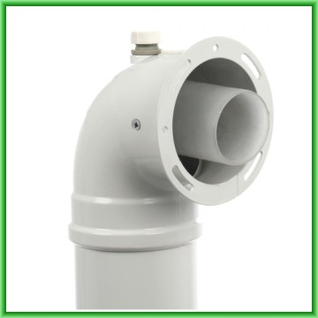 Poza Kit de evacuare coaxial pentru centrale termice in condensare Motan - detaliu cot
