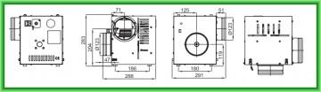 Poza Ventilator de aer cald cu termostat pentru seminee AN1 400 mc/h - desen tehnic