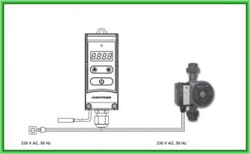 Poza Controler electronic digital pentru pompe COMPUTHERM WPR-100GC - schema de montaj