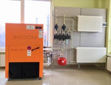 Poza Centrala termica pe peleti BIODOM B34 30 kW - exemplu de montaj