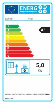 Poza Seminee pe peleti HEIDI - eticheta energetica