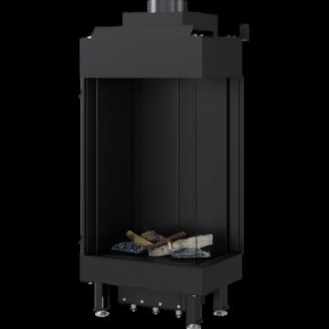 Poza Semineu pe gaz metan tip insert L45/68 6.5 kW cu geam pe dreapta
