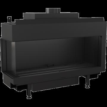 Poza Semineu pe gaz metan tip insert L100 10 kW cu geam pe stanga