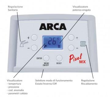 Poza Centrala termica pe gaz in condensatie combi ARCA PIXEL MX PN - panou de comanda