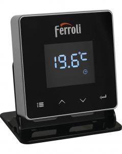 Poza Termostat ambiental cu radiofrecventa RF si WiFi FERROLI CONNECT - emitator cu suport pentru masa